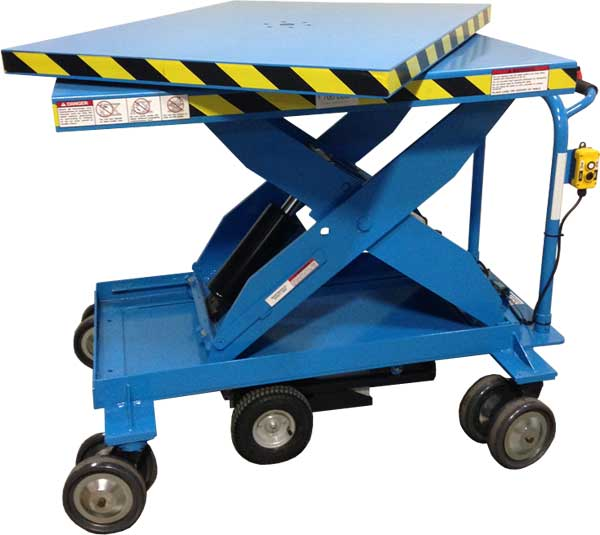 Mobile Lift Table with Rotating Top