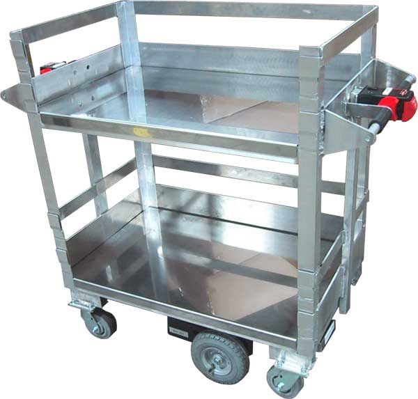 Electric Cart with Stainless Shelving