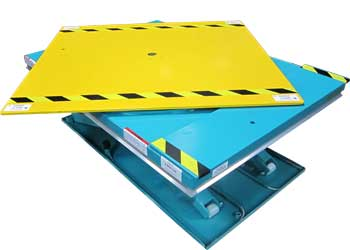 Low Profile Lift Table With Square Rotating Top