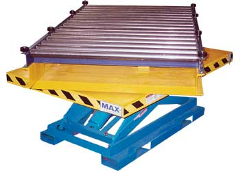 Rotating Lift Table With Conveyor Top