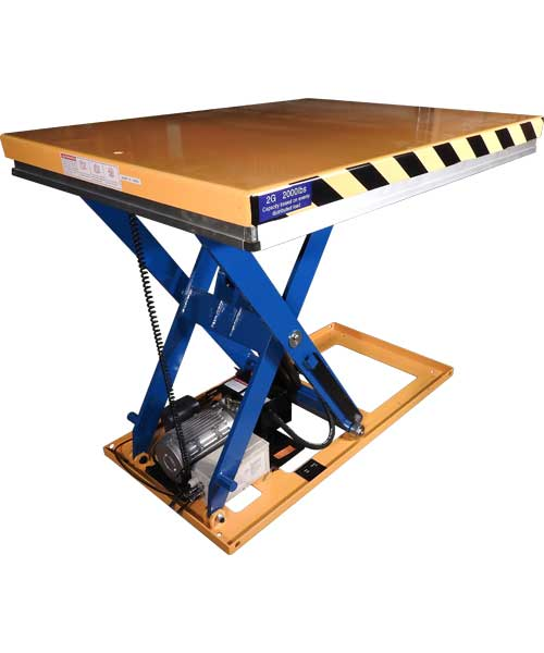 G Series Lift Table Back View
