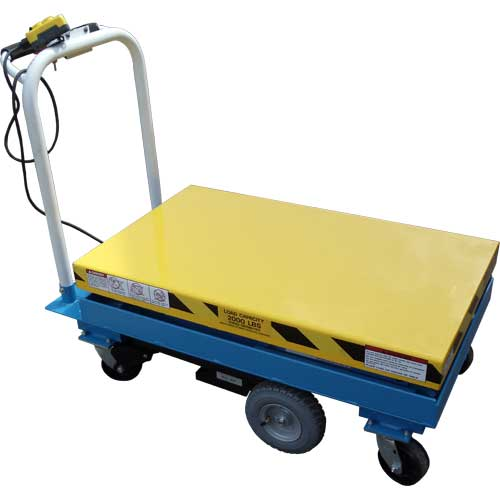 LPMC Mobile Lift Lowered
