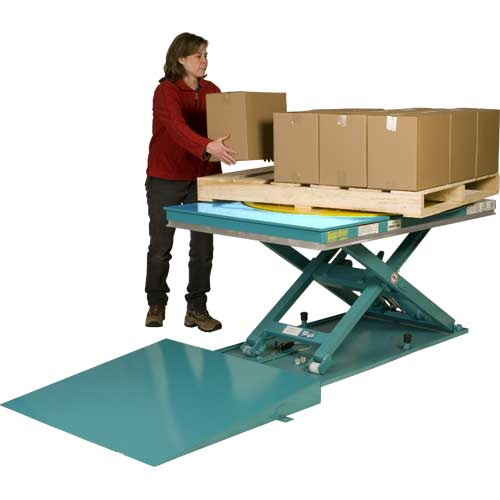 Lift-N-Spin Lift Table Palletizing